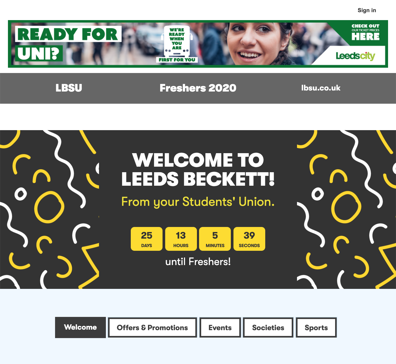 Welcome to Leeds Beckett - From your Students' Union