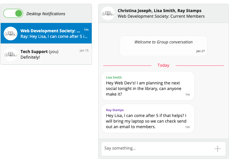 UnionCloud Chat Example